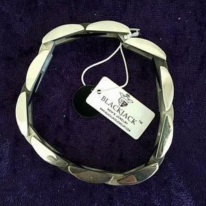 NWT BlackJack Stainless Steel Link Bracelet